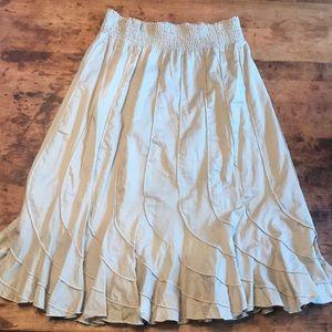 Dresses & Skirts - 🍋GraceElements tan midi hippie broomstick skirt